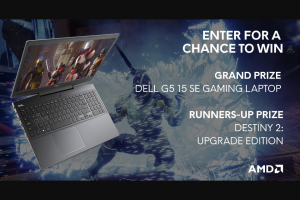 Alienware – Destiny 2 And Amd Gaming Notebook – Win receives One (1) Dell G5 15 SE AMD gaming notebook one (1) Destiny 2 Upgrade Edition Steam product activation key