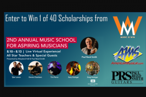 American Musical Supply – 2nd Annual Music School For Aspiring Musicians Scholarship Giveaway Sweepstakes