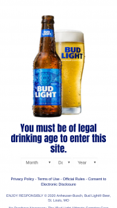 Anheuser-Busch – Bud Light Ultimate Camping Gear Sweepstakes