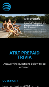 AT&T Mobility – 2020 Prepaid Sweepstakes