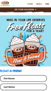 A&w Restaurants – Float-A-Friend Sweepstakes