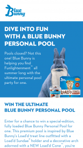 Blue Bunny – Pool Giveaway Sweepstakes