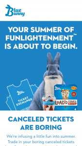 Blue Bunny – Ticket Exchange Instant Win Game Sweepstakes