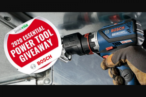 Bob Vila – 2020 Essential Power Tool Giveaway With Bosch – Win one (1) prize package from Bosch