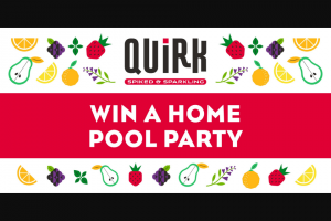 Boulevard Beverage – Quirk Pool Party – Win a Quirk cooler