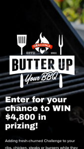 Challenge Butter – $4800 Butter Up Your Bbq Sweepstakes