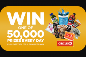 Circle K Stores – Scratch & Match – Win $10000 1 $10000  Total approximate retail value of all prizes $4712390.