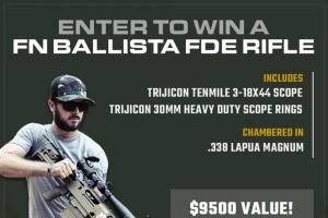 Classic Firearms – Win A Fn Ballista Fde Rifle W/ Trijicon Tenmile 3-18×44 Scope – Win a FN Ballista FDE Rifle w/ Trijicon Tenmile 3-18×44 Scope approximate retail value $9500.00.