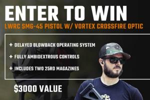 Classic Firearms – Win An Lwrc Smg-45 Pistol W/ Vortex Crossfire – Win an LWRC SMG-45 Pistol w/ Vortex Crossfire approximate retail value $3000.00.