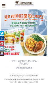 Farm Star Living – Real Potatoes For Real People Sweepstakes