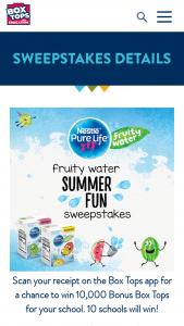 General Mills Box Tops For Education – Nestle Pure Life Fruity Water Summer Fun – Win 10000 Bonus Box Tops