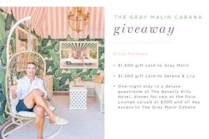 Gray Malin – Cabana Giveaway Sweepstakes