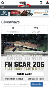 Gundeals – Fn Scar 20s Flat Dark Earth Rifle Sweepstakes