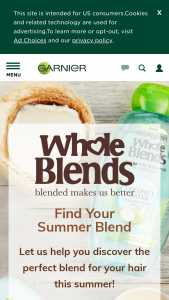 L'oreal Garnier – Whole Blends Find Your Blend Sweepstakes
