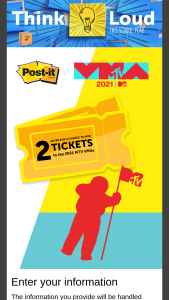 3m Post-It – Back To School Vmas – Win a trip for winner and one guest to attend the 2021 MTV Video Music Awards