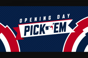 MLB – Opening Day Pick 'em Contest – Win be awarded in the form of a check in US dollars as one lump sum