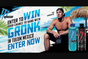"Monster Energy – Monster Hydro Chance To Win A Training Experienc With Rob Gronkowski – Win (1) ""Grand Prize"" is available"