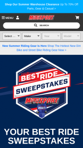Motosport – 2020 Your Best Ride Sweepstakes