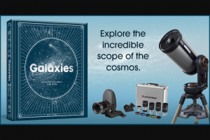 Penguin Random House – Galaxies And Celestron – Win $2199) 1 STARSENSE AUTOALIGN ACCESSORY (Prize Approximate Retail Value $389.95) 1 2″ EYEPIECE AND FILTER KIT (Prize Approximate Retail Value $329.95)