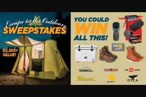 Powderhook – Escape To The Outdoors Sweepstakes
