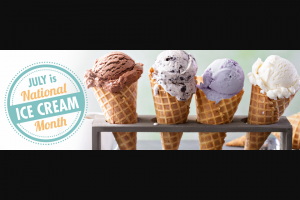 "Prairie Farms Dairy – National Ice Cream – Win Prairie Farms Premium Small Batch Ice Cream"" Prize Packages will be given in the form of ten ""Free"" Coupons good for any flavor of Prairie Farms Premium Small Batch Ice Cream – 48 oz"