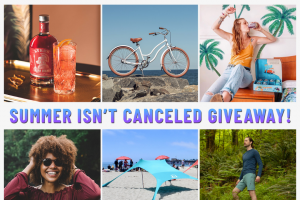 Priority Bicycles – Summer Isn't Canceled Giveaway – Win Card Showers Pass $500 Gift Card Lyre's Non-Alcoholic Spirits $150 Gift Card Proof Eyewear $100 Gift Card Wave Soda 48-Pack of Soda & Bamboo Straws The SunBear Co Beach Shade Tent