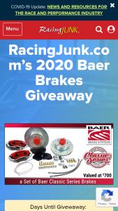 Racingjunkcom – 2020 Baer Brakes Giveaway – Win a set of Baer Classic Series brakes (ARV US $700).