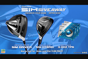 Rock Bottom Golf – Taylormade Sim Giveaway – Win SIM Driver