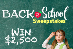 """Salem Media Group – Back To School – Win two-thousand-five-hundred-dollars-and-no-cents ($2500.00) USD (""""Cash Prize"""")."""
