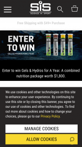 Science In Sport – Gels And Hydros For A Year – Win a nutrition prize worth a total of $1800 MSRP
