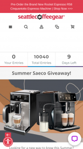 Seattle Coffee – Summer Saeco Giveaway – Win a brand new Saeco Xelsis superatuomatic
