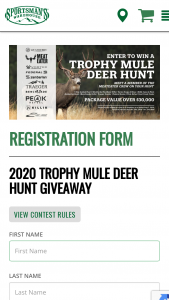 Sportsman's Warehouse – 2020 Trophy Mule Deer Hunt Giveaway Sweepstakes