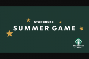 Starbucks – Summer Game 2020 Sweepstakes