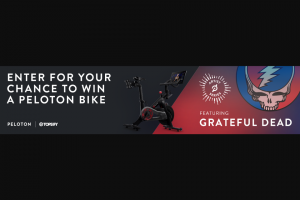 Topsify – Grateful Dead & Peloton – Win one (1) Basics Package Peloton bike (Total Approximate Maximum Retail Value of Prize $2245).