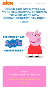 Viacom – Peppa Pig July 2020 Sweepstakes