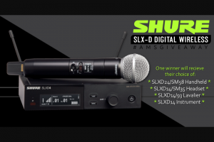 American Musical Supply – Shure Slx-D Wireless Giveaway Sweepstakes