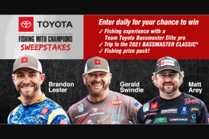Bassmaster – Toyota Fishing With Champions Sweepstakes