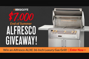 Bbqguys – End Of Summer $7k Alfresco Grill Giveaway Sweepstakes