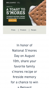 Belgard – National S'mores Day – Win (1) Weston Fire Pit Kit and (2) Adirondack chairs