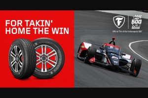 Bridgestone Americas Tire Operations – Firestone & Tire Rack Indy 500 – Win Pack and a $100 Sponsor-Specified Gift Card to be used for Tires and Tire Rack Custom Wheels Package installation