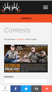 Buckmasters – Georgia Dream Hunt Giveaway Sweepstakes