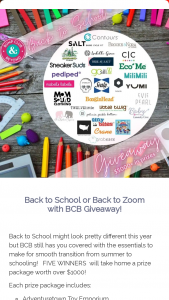 Bump Club – Back To School Or Back To Zoom With Bcb Giveaway Sweepstakes