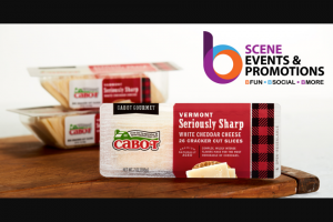 """Cabot Creamery – B Scene Events & s Giveaway – Win AWARDED) from the sweepstakes is described below with the approximate retail values (""""ARV"""")."""