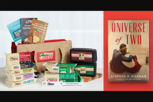 Cabot Creamery – Universe Of Two Book Club Giveaway – Win Signed copies of Universe of One by Stephen Kiernan and a Skype session with Stephen Kiernan (ARV $420) Cabot Creamery Gift Box (ARV $75) Total value of all prizes awarded $495