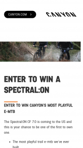 Canyon Bicycles – Spectralon – Win a 2020 Spectral ON CF 7.0.