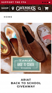 Cavender's – 2020 Back To School Giveaway – Win two (2) pairs of Ariat Casuals