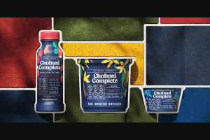 Chobani – Complete – Win a case of Chobani® Complete shakes (8 shakes/10 fluid oz).