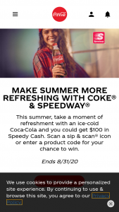 Coca-Cola – Speedway Summer Sweepstakes