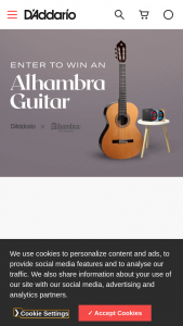 D'addario – Alhambra Classic Guitar Giveaway – Win one One (1) Alhambra 10 Premiere Classical Guitar