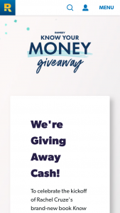 Dave Ramsey – Know Your Money Giveaway – Win Cash Prize 2 $500 Cash Prize 3 $500 Cash Prize 4 $3000 Cash Prize